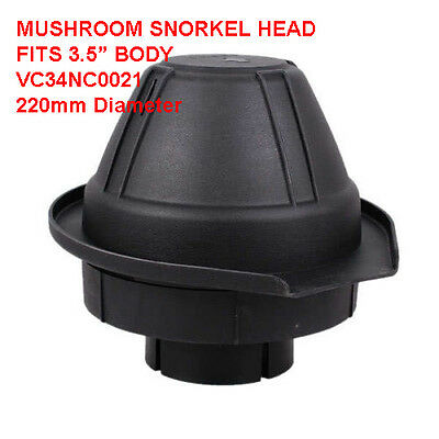"LANDROVER / OFF ROAD 4x4 Replacement 3.5"" Body- Snorkel Head MUSHROOM VC34NC0021"