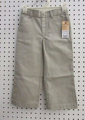 George Toddlers School Uniform Flat Front Pant (Size 2T, NWT, Warm Beige)