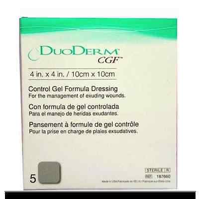 "DuoDerm 4""x 4"" CGF 187660 Convatec Hydrocolloid Wound Dressing Sterile Box of 5"