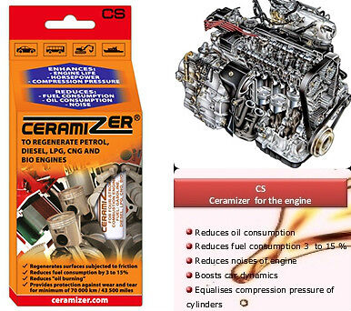 Ceramizer® 4-stroke engines repair regenerate diesel petrol lpg car mechanic