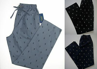NEW Men Polo Ralph Lauren Lounge Pony All Over Pants Size S M L XL