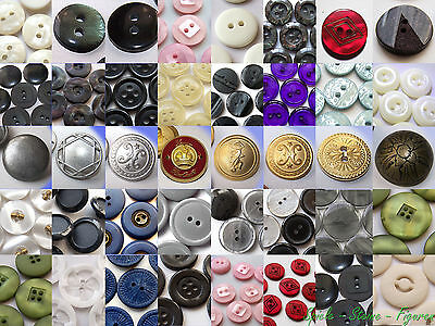 Large Selection Buttons, Trousers Shirt Blouses Coat Costumes Horn Metal Buttons