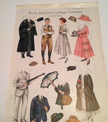 Betty Bonnet's College Cousiin Paper Doll Ladies Home Journal June 1917 Original