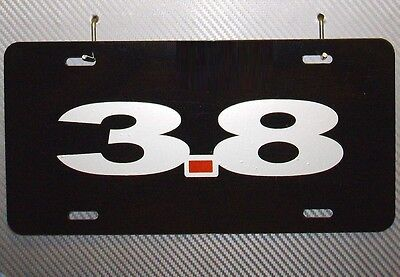 3.8 METAL LICENSE PLATE, ford, v6, liter, engine, essex, mustang, supercoupe,