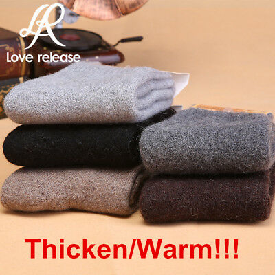 5 Pairs Men's Super Warm Heavy Thermal double Insulated Winter Socks ONE SIZE
