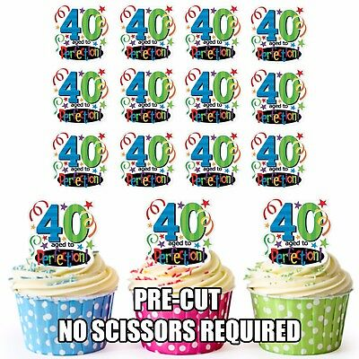 PRECUT GOLF Golfing 12 Edible Cupcake Toppers Decorations Birthday