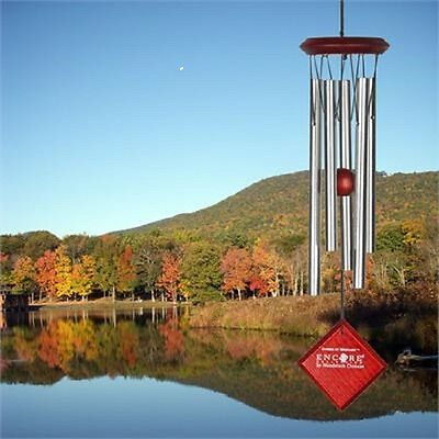 """Woodstock CHIMES OF MERCURY 14"""" SILVER WIND CHIMES, Five Approximately 7"""" Tubes"""