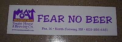 MOAT MOUNTAIN BREWING COMPANY Fear No STICKER label decal craft beer brewery