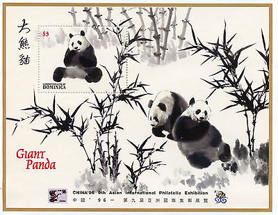 Dominica 1996 MNH Giant Panda 1v S/S Pandas Wild Animals China'96 Exhibition