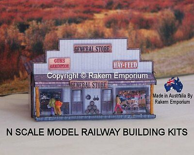 N Scale General Store, Model Railway Building Kit - NGSW