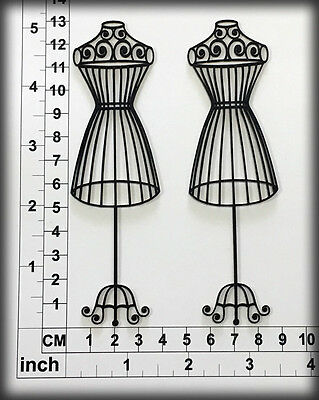 Chipboard Embellishments for Scrapbooking, Cardmaking - Dress Forms 16036b