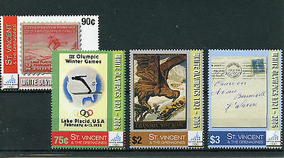 St Vincent & Grenadines 2006 MNH Winter Olympics Torino 4v Set Skiing Posters