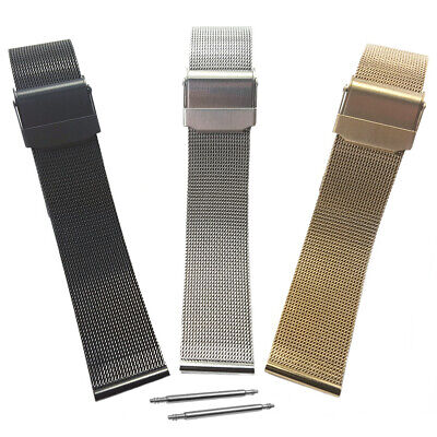 Milanese Fine Mesh Watch Strap Bracelet With Safety Clasp