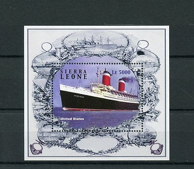 Sierra Leone 2004 MNH Ocean Liners 1v S/S Ships Boats United States Stamps