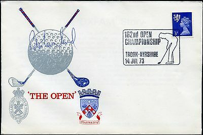 Golf 1973 Signed Cover Peter Townsend Troon Open Championship