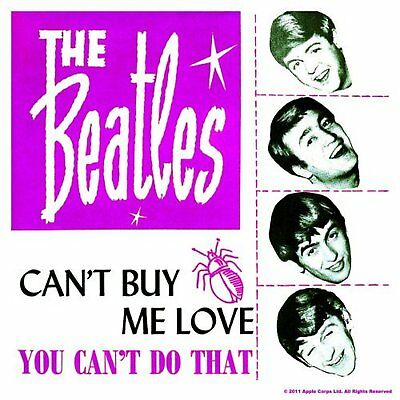 The Beatles Can't Buy Me Love Single Drinks Coaster Gift Band Album Fan