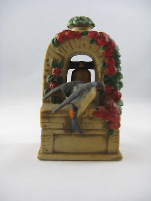 Lionstone Swallow at Bell Tower Empty Mini Whisky Decanter Bird Vintage 1974