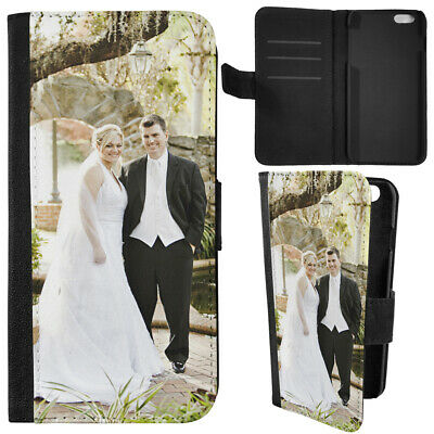 Personalised Custom Phone Cover Any Photo Printed Leather Flip Samsung Apple