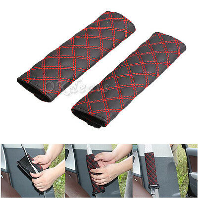 1 Pair Car Safety Seat Belt Shoulder Pads Cover Cushion Harness Pad Protector RE