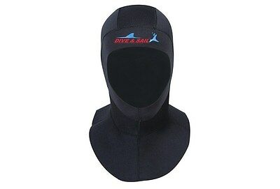 Black 3mm Neoprene Scuba Diving Bibbed Hood Warm Cap Divers Cap Hood Neck Cover