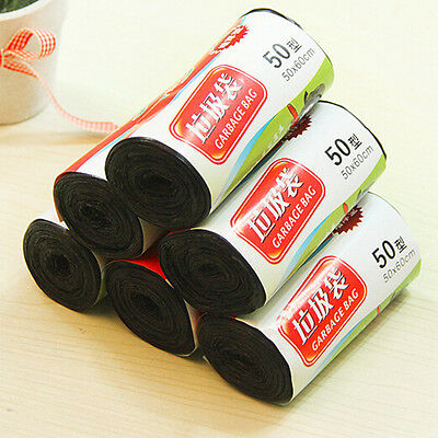 1-Roll Black Rubbish Garbage Toilet Clean-up Waste Trash Bags 50x60cm