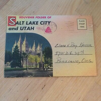 Vintage Souvenir Postcard Set of Salt Lake City Utah