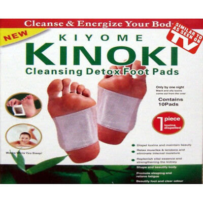 Kinoki Herbal Removal Detox Foot Pads Detoxification Cleansing Patches 10 in Box