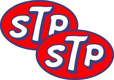 "2 x 8"" STP Stickers Decals  Car Motorbike free postage"