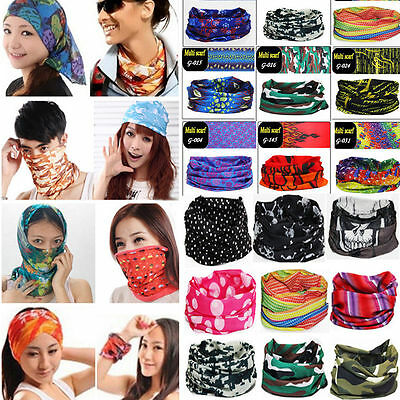 60 Colors Multi Purpose Head Face Mask Snood Bandana Neck Warmer Sport Scarf