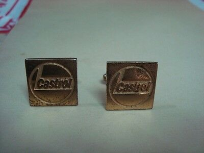 Old Vintage Metal Castrol co. Advertisement Cuff Link pair from India 1960