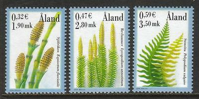 Aland Mnh 2001 Sg188-190 Spore Plants Set Of 3