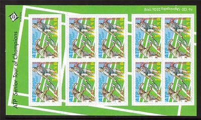 Aland Mnh 1998 Sg139 Association Of Tennis Pro Senior Tour Sheetlet Of 10