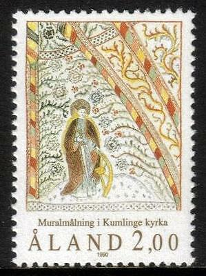 Aland Mnh 1990 Sg45 Fresco Of St Anna's Church, Kumlinge