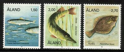 Aland Mnh 1990 Sg41-43 Fishes Set Of 3