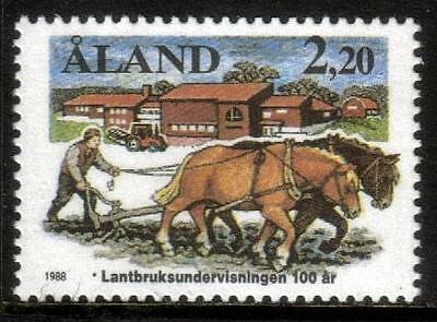Aland Mnh 1988 Sg31 Centenary Of Agricultural Education
