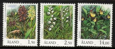 Aland Mnh 1989 Sg36-38 Orchids Set Of 3