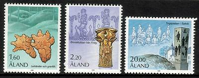 Aland Mnh 1986 Sg21-23 Archaeology Set Of 3