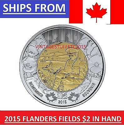 ** 2015 Canada Canadian $2 Twoonie Flanders Fields Uncirculated Mint State MS **