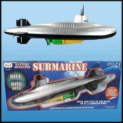Large Submarine Kids Bath Play Dive Battery Operated Water Fun Toy Paddling Pool