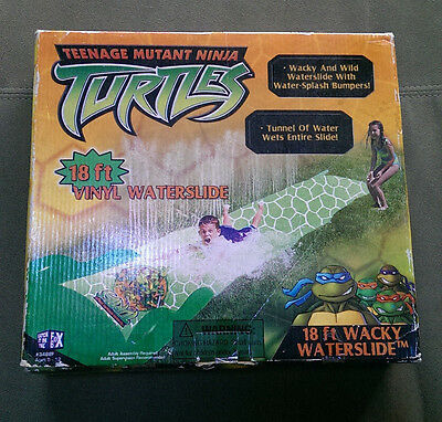 Teenage Mutant Ninja Turtles wacky 18ft Vinyl Water slide RARE vintage retro NEW