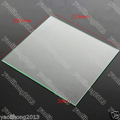 MK2 Heat Bed Borosilicate Glass Plate 213x200x3mm Tempered For Reprap 3D Printer