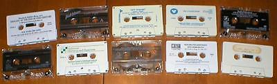 Lot of 10 Lectures/Seminars on Audio Cassettes~Frank J. King, Joel Osteen, etc..