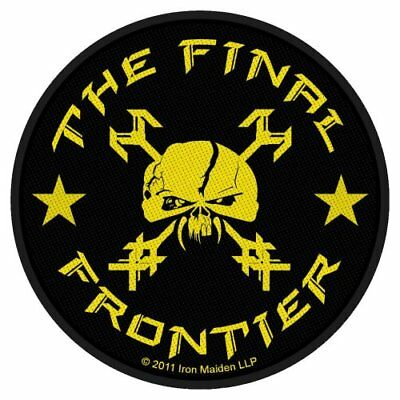 Iron Maiden The Final Frontier Yellow Black Iron Sew On Patch Badge Fan Official