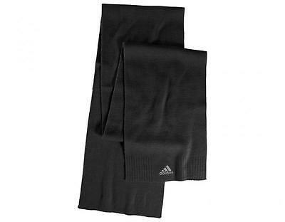 Adidas Knitted Scarf Ess Corp Black M66723 One size Unisex Brand New With Tags