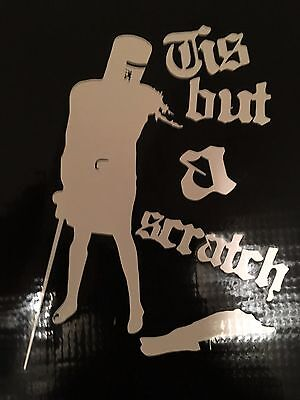 Black Knight Tis But A Scratch Monty Python Decal Sticker Vinyl  Laptop Car 5""