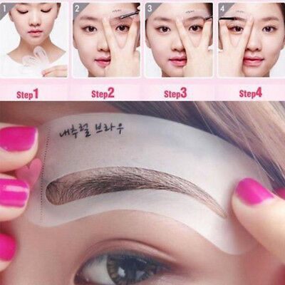 3pcs/Set Eyebrow Grooming Stencil Kit Template Makeup Shaping Beauty DIY Tool