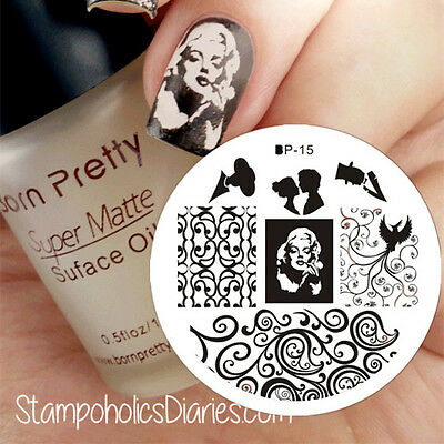 Nail Art Stamping Schablonen Stempel Template Stamp Image Plate BORN PRETTY BP15