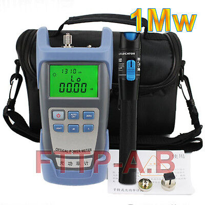 Fiber Optical Power Meter and 1Mw 3-5km Visual Fault Locator Cable Tester+ Bag