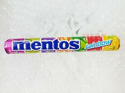 Mentos Rainbow Chewy Dragees Mint Candy Mix Fruit with Multi 7 Flavours 37g