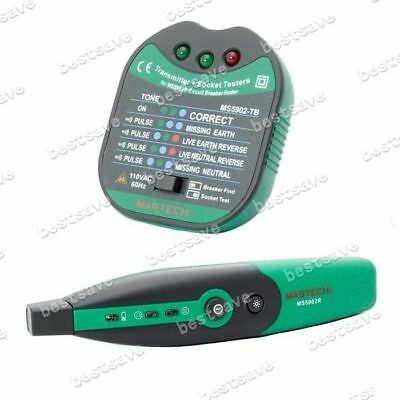 Mastech MS5902 Automatic Circuit Breaker LED Socket Tester Finder Zeroline B0322